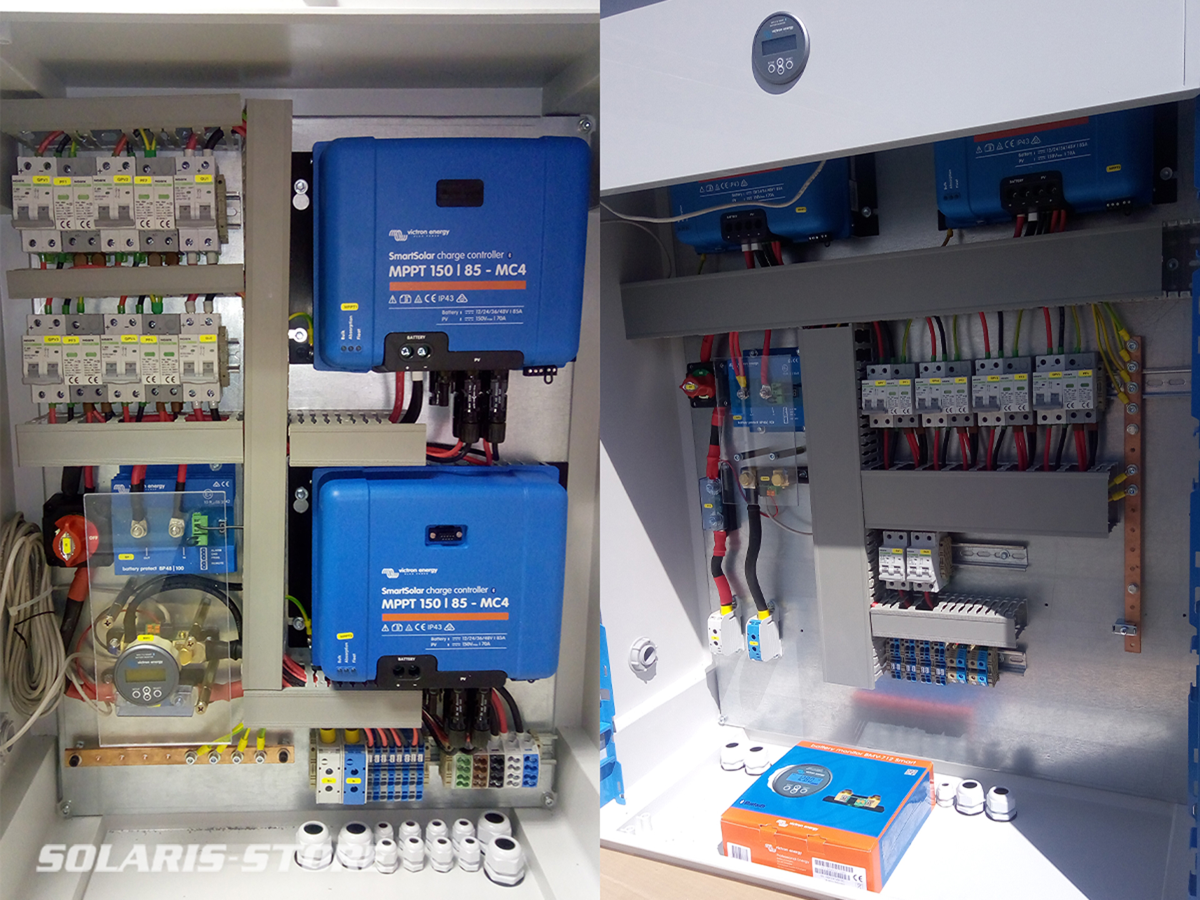 Armoire électrique équipée en matériel VICTRON / compagnie ferroviaire en Guinée