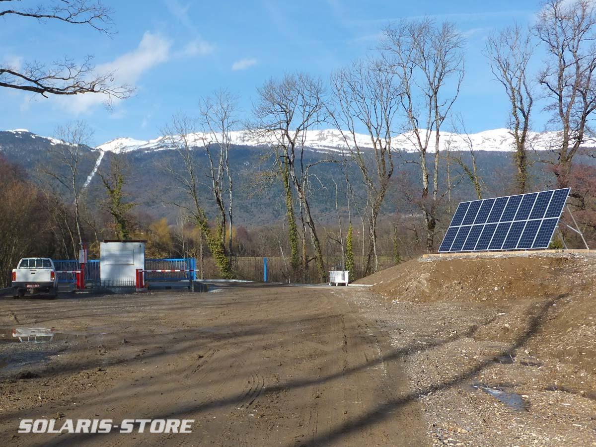 Pays de Gex (01) / Installation solaire autonome sur un site de traitement de déchets inertes