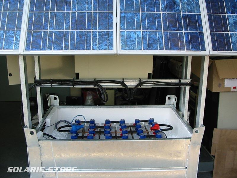 Ain (01) / Générateur solaire tout intégré : bà ï��ti, panneaux, batteries...