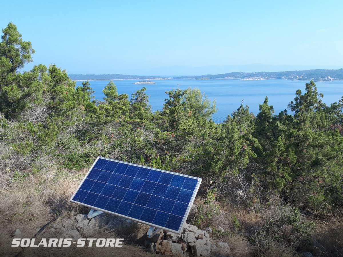 Croatie / Dimmensionnement et expédition d'un kit solaire installé en pleine nature.