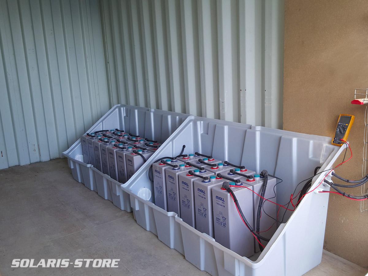 Pays de Gex (01) / Parc batterie OPzV en 48V sur un site de traitement de déchets