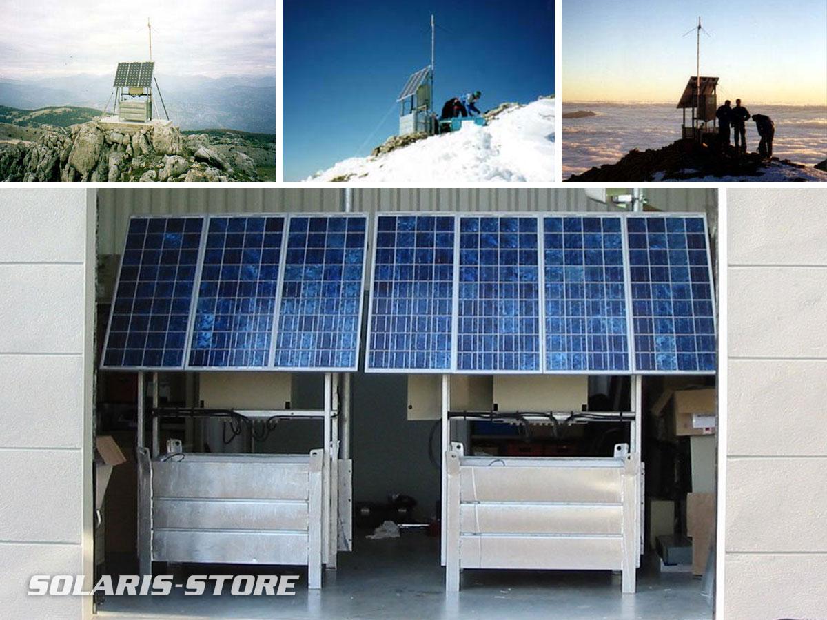 Conception de générateurs autonomes solaires pour les relais radio telecom de haute montagne du PGHM