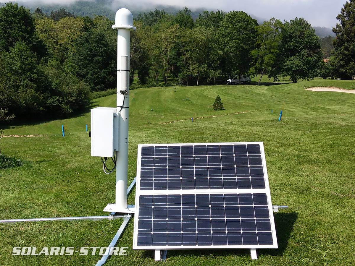 Kit solaire autonome pour l'alimentation d´une station météo
