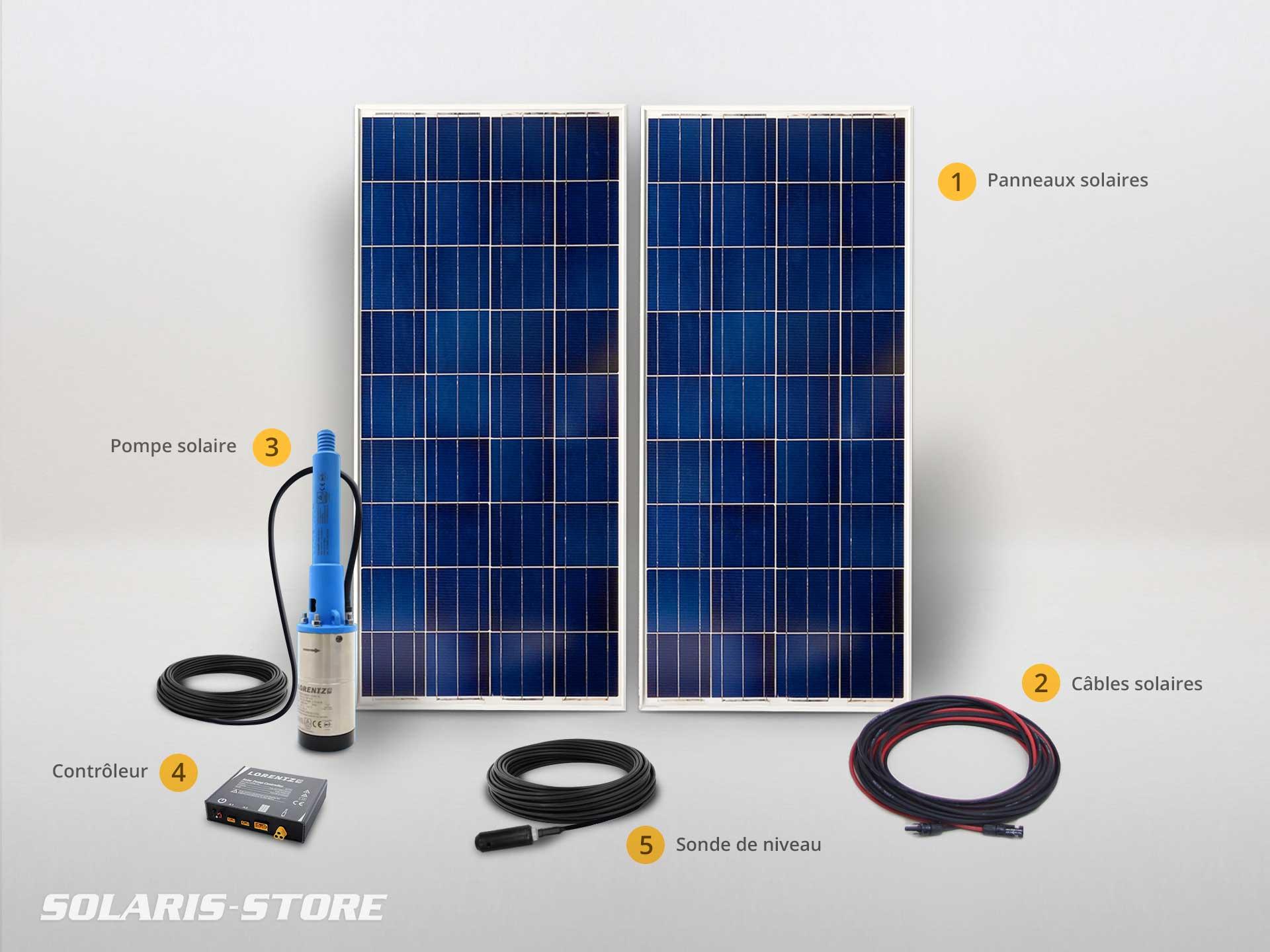 Système de pompe et panneau solaire autonome pour l'irrigation ou l'arrosage en totale autonomie