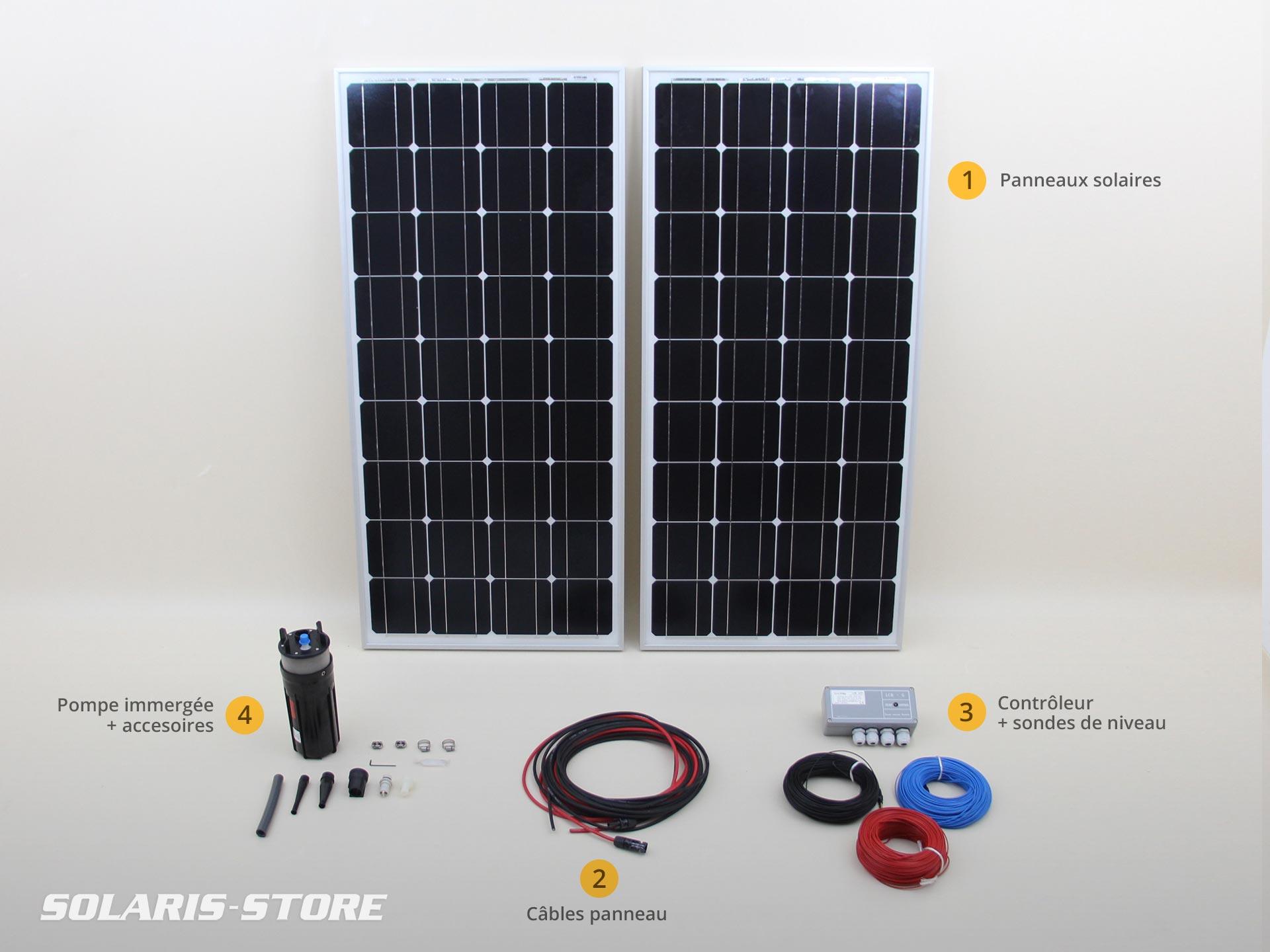 kit solaire de pompage immerg shurflo 70 m 200w 24v. Black Bedroom Furniture Sets. Home Design Ideas