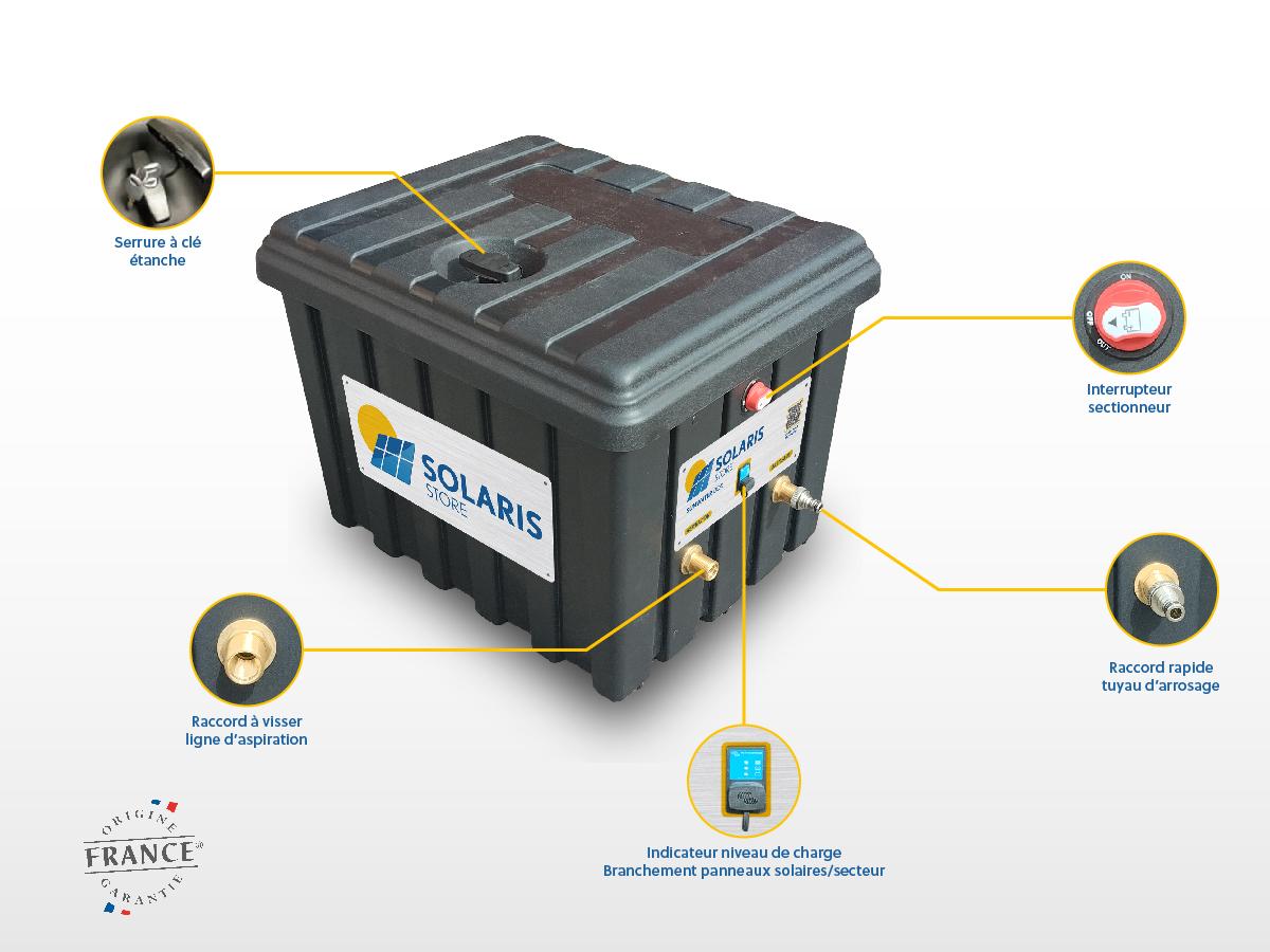 Coffre d'arrosage solaire SUNWATER BOX de SOLARIS