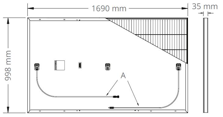 Dimensions Sunpower 330W