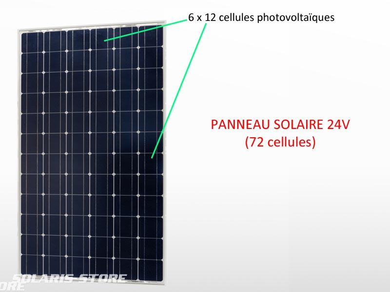 Panneau solaire 24V (72 cellules)