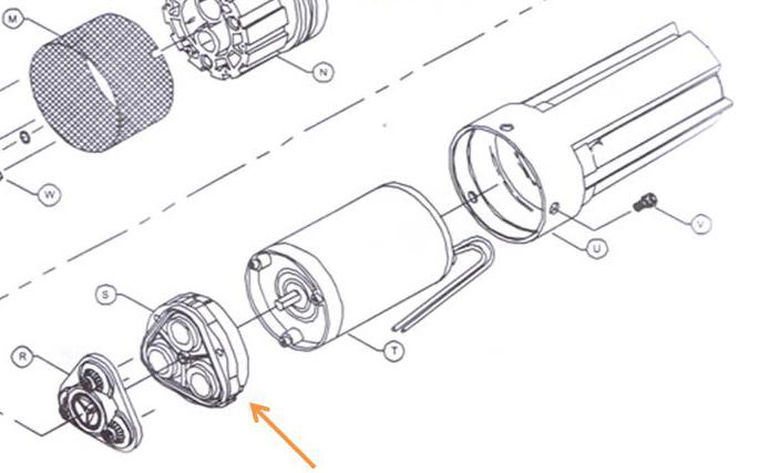 Kit 3 cames d'assemblage de l'enveloppe inférieure (diaphragme) REF 94-138-00 (pompe SHURFLO 9325)