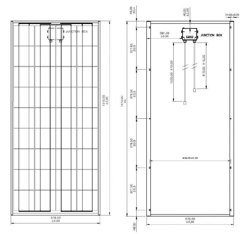 Panneau solaire tenesol te145m 145 wc 12v solaris store - Prix d un panneau photovoltaique ...