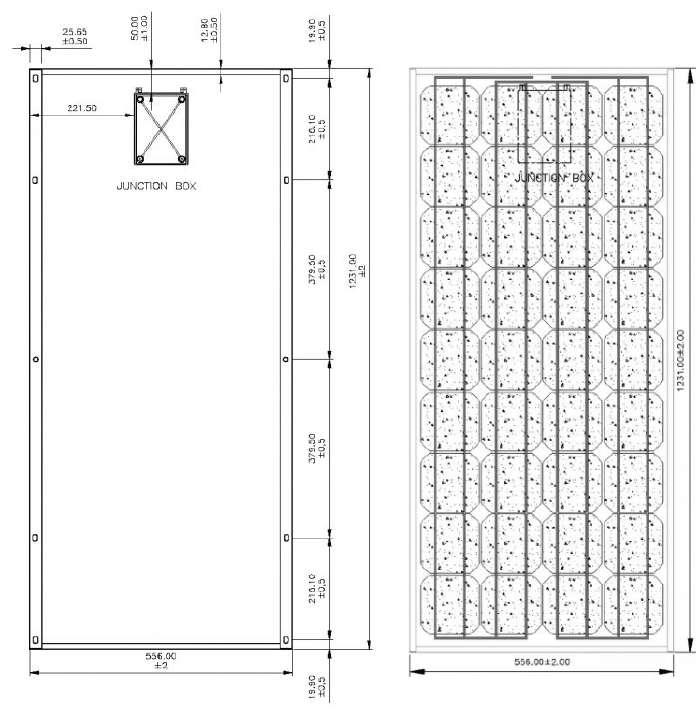 panneau solaire tenesol te95m 95 wc 12v solaris store. Black Bedroom Furniture Sets. Home Design Ideas
