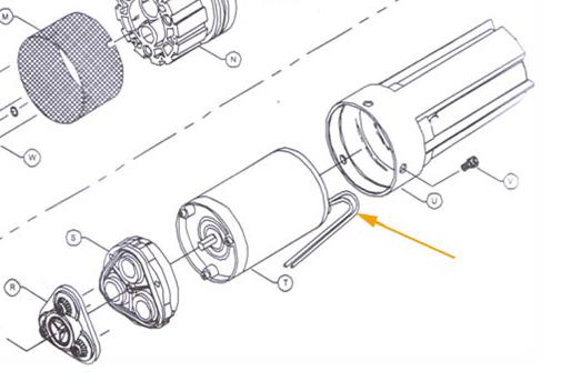Kit flasque inférieur + balai REF 94-004-05 (pompe SHURFLO 9325)