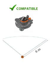 Pompe solaire pour arrosage rotatif et sectoriel
