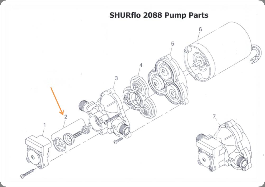 Pompe de surface Shurflo 2088