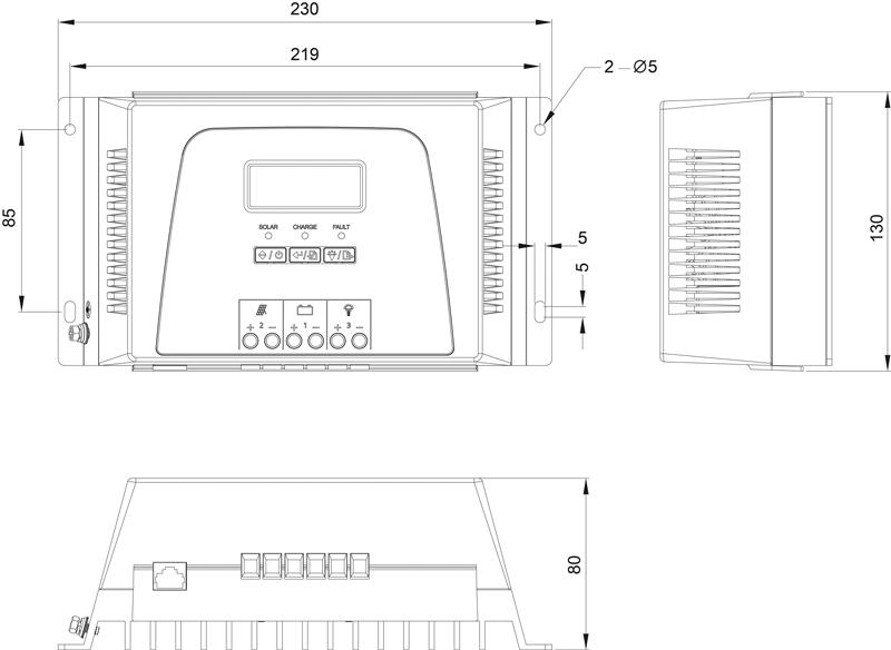 Plan technique STECA MPPT 1010